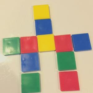 """Perimeter Game """"man shape"""" with perimeter of 24"""