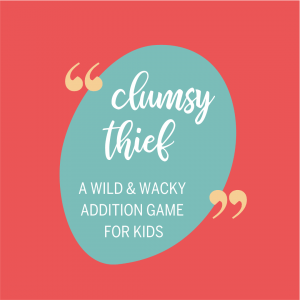Clumsy Thief addition game for kids