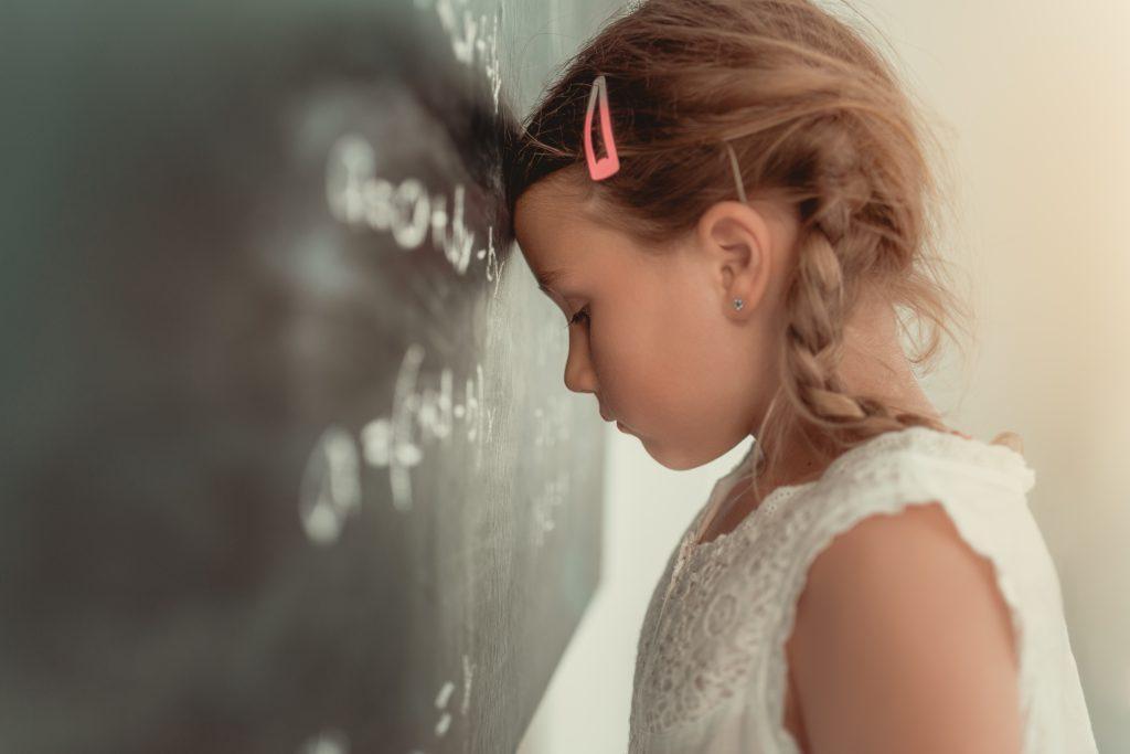 Little girl bad at math