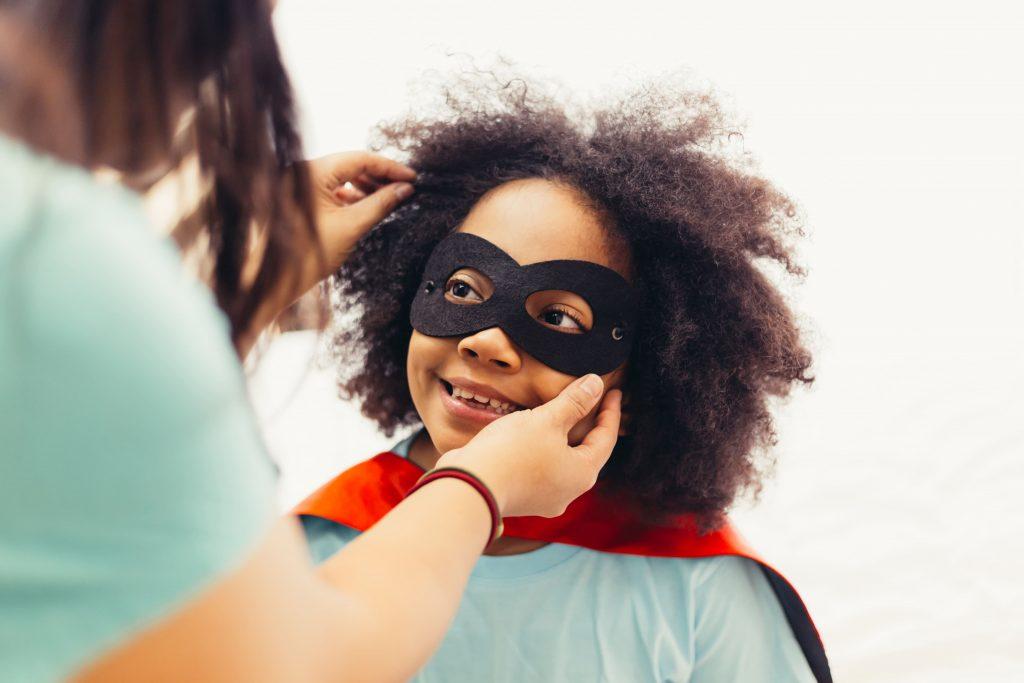 young black girl superhero