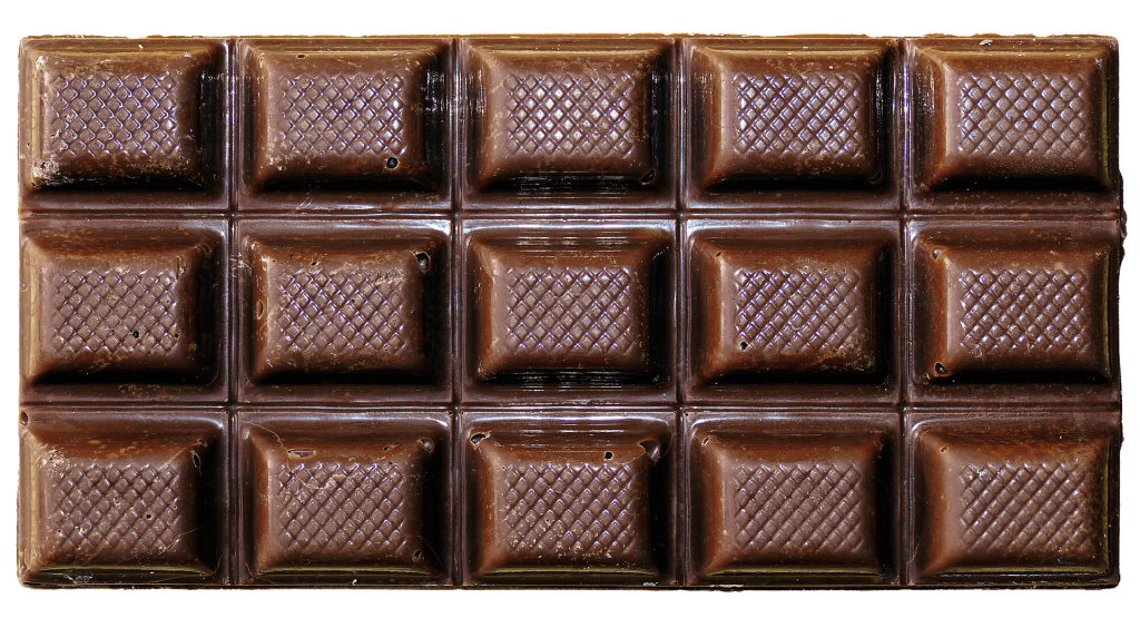 chocolate bar array - learn times tables with food