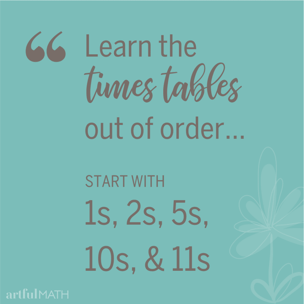 learn times tables out of order