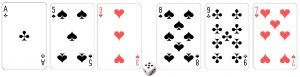 playing card digits in place value game