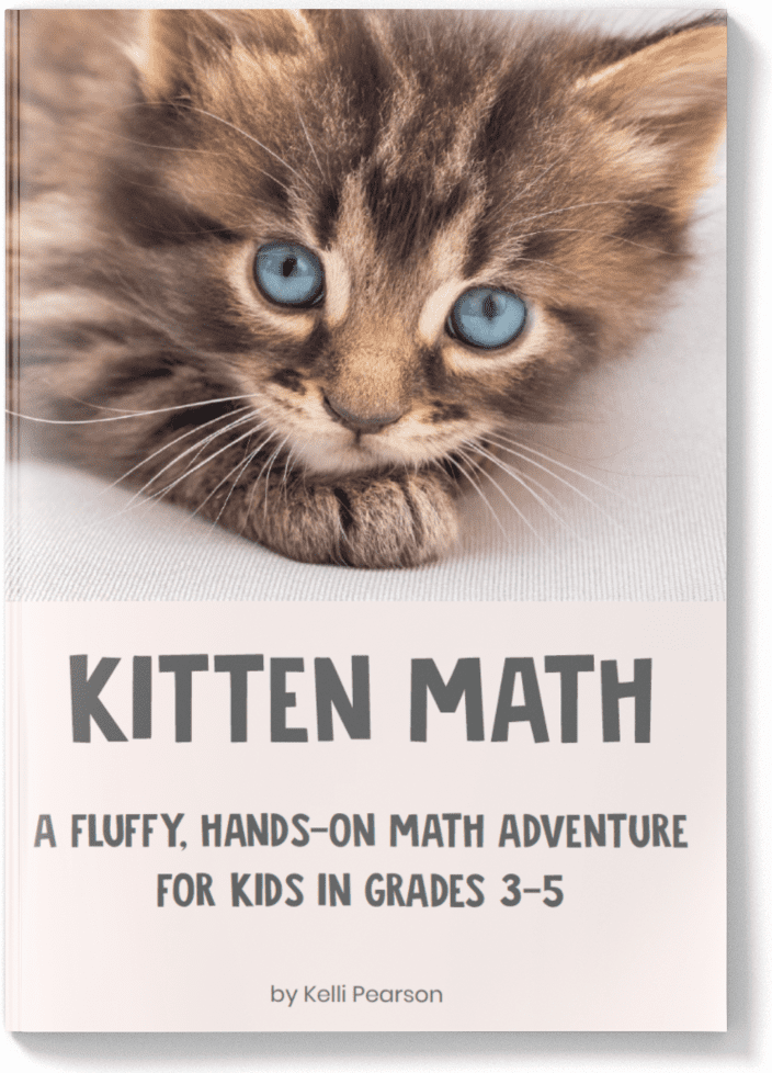 Kitten Math by Kelli Pearson -- the worlds' most adorable math project for kids in grades 3-5