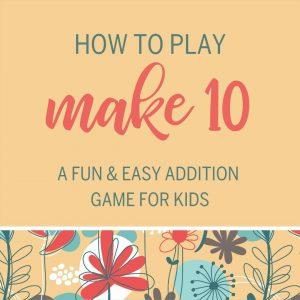 Make Ten addition game